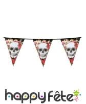 Décoration skull fleuri pour table, image 8