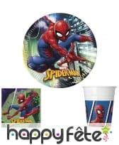 Déco spiderman Marvel pour table d'anniversaire
