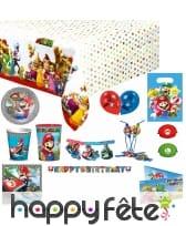 Déco Super Mario pour table d'anniversaire