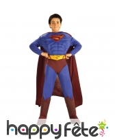 Déguisement superman musclé pour enfant