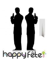 Double silhouette ombre d'agents secrets
