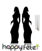 Double silhouette ombre de femme agent secret