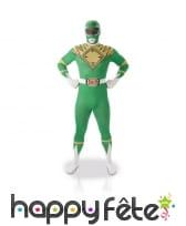 Déguisement seconde peau de Power Rangers vert