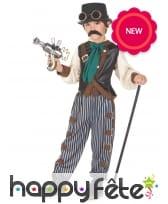 Déguisement steampunk pour enfant, pantalon ligné, image 1