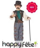 Déguisement steampunk pour enfant, pantalon ligné