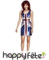 Déguisement sexy robe drapeau anglais