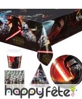 Décos Star Wars VII pour table d'anniversaire