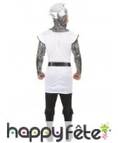 Déguisement tunique de chevalier médiéval blanc, image 3