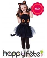 Déguisement tutu de chat noir pour fille