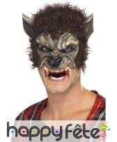 Demi-tête loup garou