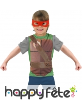 Débardeur Tortues Ninja avec 4 masques