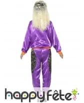 Déguisement training rétro violet brillant, femme, image 2