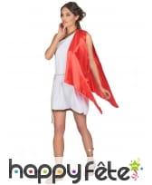 Déguisement tunique romaine blanche, cape rouge, image 2