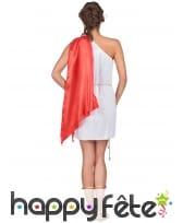 Déguisement tunique romaine blanche, cape rouge, image 3