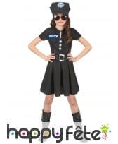 Déguisement uniforme de petite policière