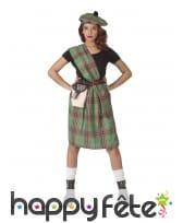 Déguisement vert d'écossaise pour adulte