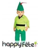 Déguisement vert de bébé des bois