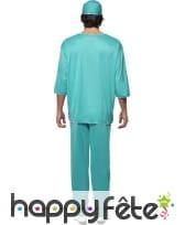 Déguisement vert de chirurgien, image 1