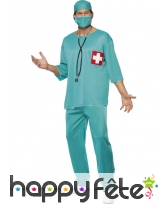 Déguisement vert de chirurgien