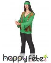 Déguisement vert de hippie, image 1