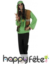 Déguisement vert de hippie, image 3