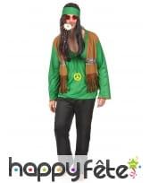 Déguisement vert de hippie