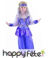 Déguisement violet de petite danseuse orientale