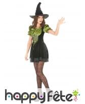 Déguisement vert et noir court de sorcière, image 1