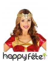 Diadème Wonder Woman doré pour femme
