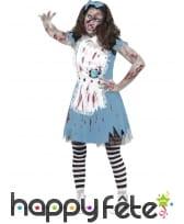 Déguisement zombie de alice, pour adolescente
