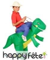 Explorateur à dos de T-rex, pour enfant