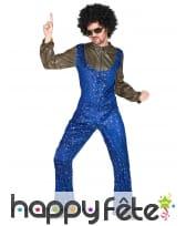 Ensemble bleu disco avec étoiles dorées pour homme, image 1