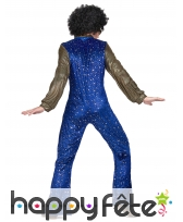 Ensemble bleu disco avec étoiles dorées pour homme, image 2