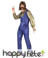 Ensemble bleu disco avec étoiles dorées pour homme, image 3