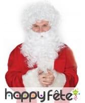Ensemble barbe et perruque blanche de papa Noël