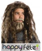 Ensemble barbe et perruque de Aquaman pour enfant
