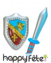 Ensemble bouclier et épée gonflable