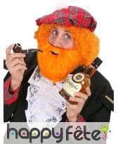 Ensemble Barbe Moustache orange style écossais