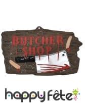 Enseigne Butcher shop de 47x27cm