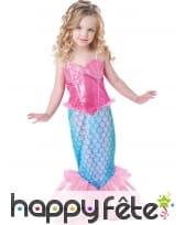 Elégant costume d'enfant sirène