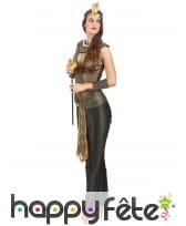 Elegant costume noir et doré de reine egyptienne, image 1