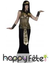 Elegant costume noir et doré de reine egyptienne, image 3
