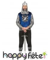 Ensemble de chevalier Médiéval bleu pour homme