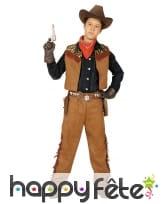 Ensemble de cowboy marron pour petit garçon