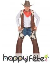 Ensemble de cowboy marron vachette pour homme
