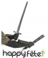 Epée de chevalier en plastique avec fourreau, image 1
