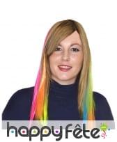 Extension de cheveux fluo