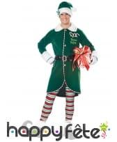Ensemble d'elfe de Noel pour homme