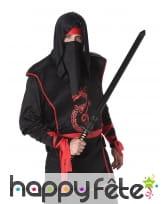 Ensemble de ninja noir rouge pour homme, image 1