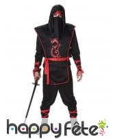 Ensemble de ninja noir rouge pour homme